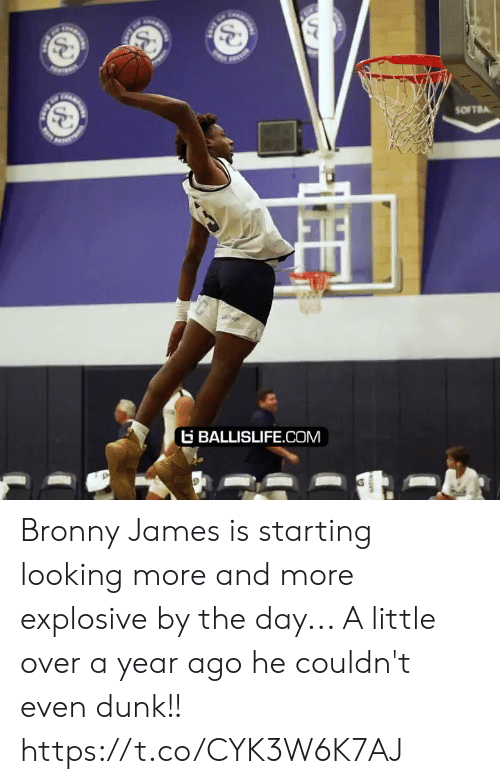 And More: SOFTBA  age  BALLISLIFE.COM Bronny James is starting looking more and more explosive by the day... A little over a year ago he couldn't even dunk!! https://t.co/CYK3W6K7AJ