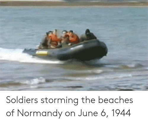 Soldiers, Beaches, and Normandy: Soldiers storming the beaches of Normandy on June 6, 1944