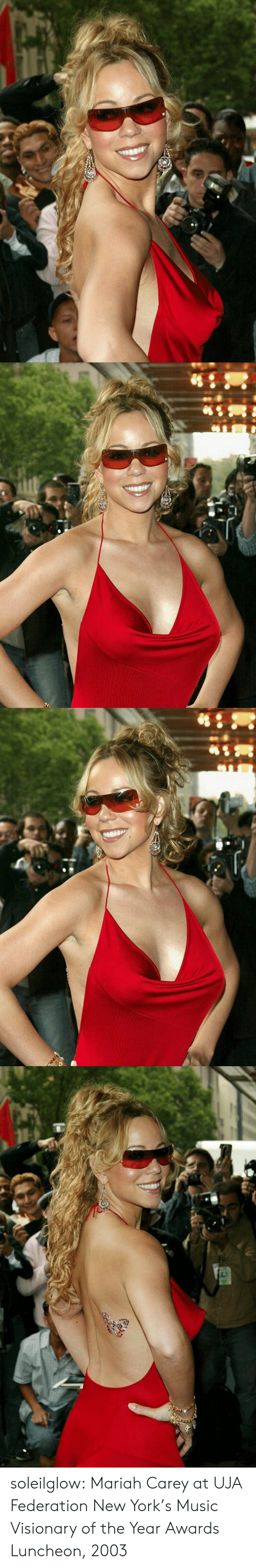 Carey: soleilglow: Mariah Carey at UJA Federation New York's Music Visionary of the Year Awards Luncheon, 2003