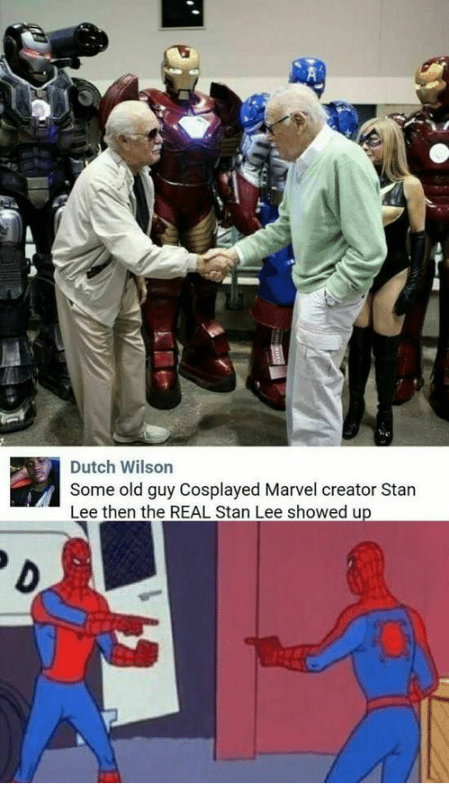 Stan Lee: Some old guy Cosplayed Marvel creator Stan  Lee then the REAL Stan Lee showed up  Dutch Wilson  D.