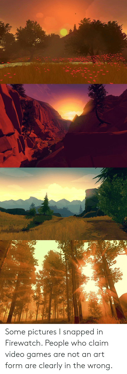 snapped: Some pictures I snapped in Firewatch. People who claim video games are not an art form are clearly in the wrong.