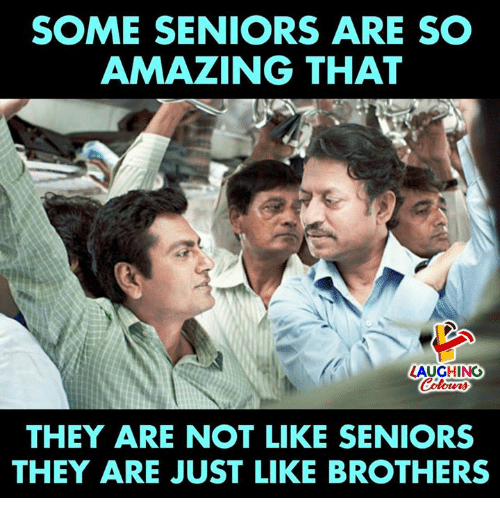 Amazing, Indianpeoplefacebook, and Brothers: SOME SENIORS ARE SO  AMAZING THAT  LAUGHING  THEY ARE NOT LIKE SENIORS  THEY ARE JUST LIKE BROTHERS