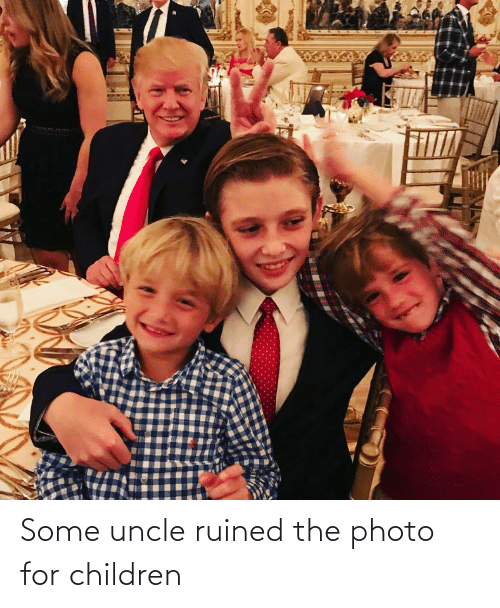 Children: Some uncle ruined the photo for children
