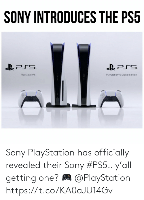 Ÿ˜˜: Sony PlayStation has officially revealed their Sony #PS5.. y'all getting one? 🎮 @PlayStation https://t.co/KA0aJU14Gv