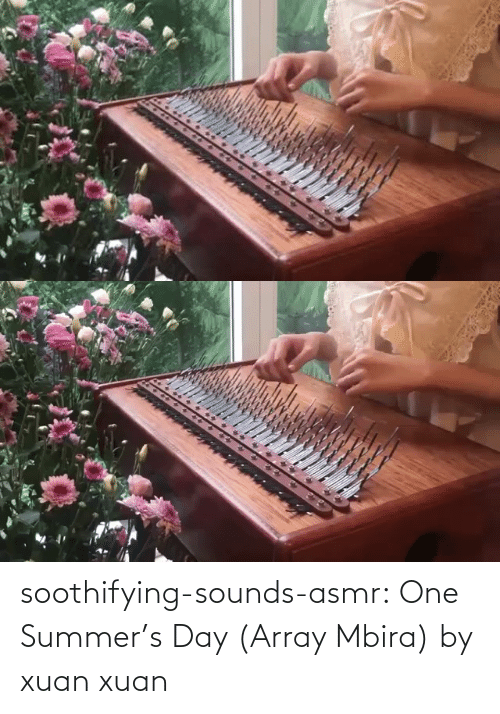 Summer: soothifying-sounds-asmr: One Summer's Day (Array Mbira) by xuan xuan