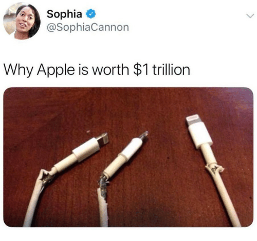Apple, Why, and Trillion: SophiaO  @SophiaCannon  Why Apple is worth $1 trillion