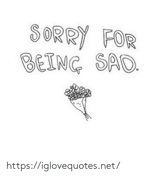 Being: SORRY FOR  BEING SAD. https://iglovequotes.net/