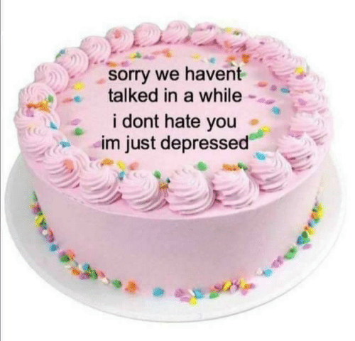Sorry, You, and Hate: sorry we havent  talked in a while  DS  i dont hate you  im just depressed