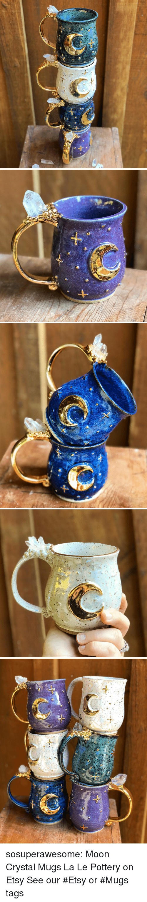 Target, Tumblr, and Blog: sosuperawesome: Moon Crystal Mugs La Le Pottery on Etsy See our #Etsy or #Mugs tags