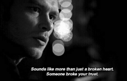 Heart, More, and Trust: Sounds like more than just a broken heart  Someone broke your trust