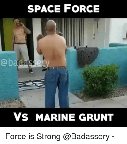 Force Is Strong: SPACE FORCE  @badasery  Vs MARINE GRUNT Force is Strong @Badassery -