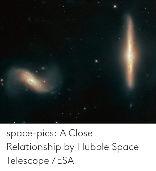 Space: space-pics:  A Close Relationship by Hubble Space Telescope / ESA