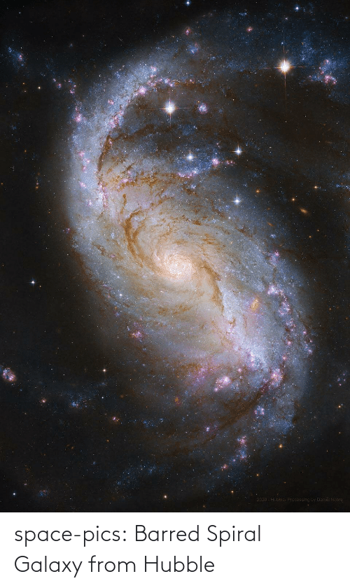 galaxy: space-pics:  Barred Spiral Galaxy from Hubble