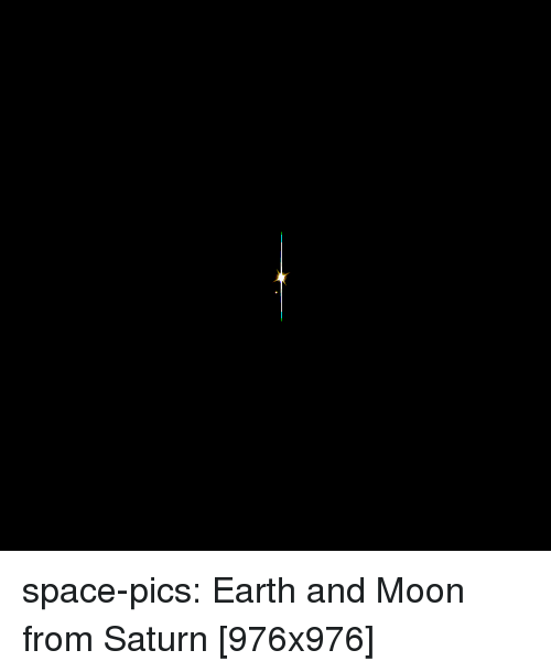 Tumblr, Blog, and Earth: space-pics:  Earth and Moon from Saturn [976x976]