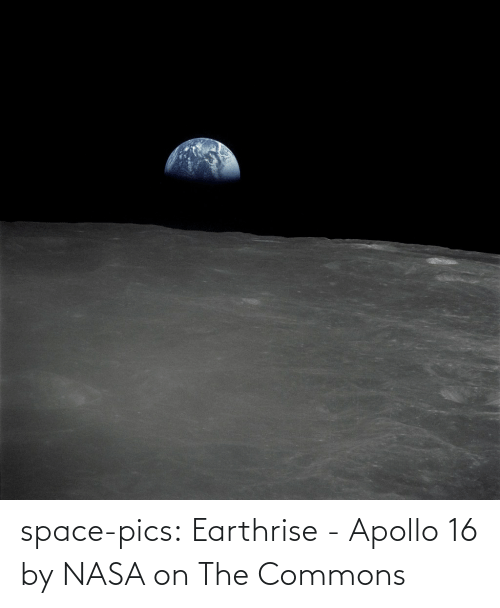 Space: space-pics:  Earthrise - Apollo 16 by NASA on The Commons