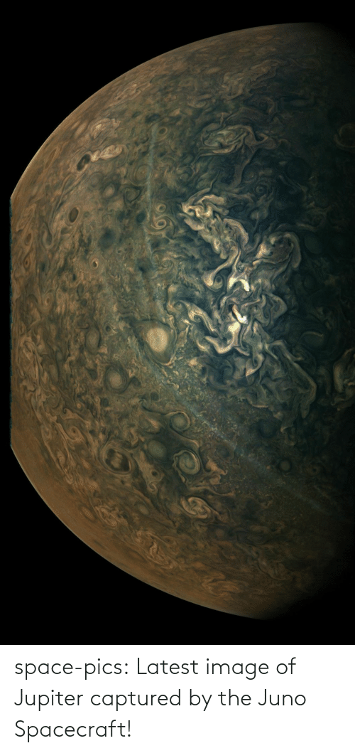 Space: space-pics:  Latest image of Jupiter captured by the Juno Spacecraft!