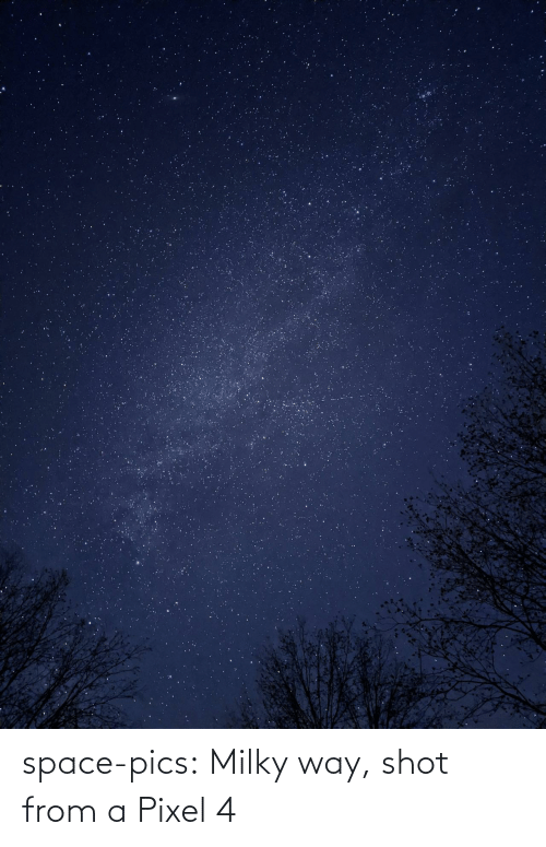 way: space-pics:  Milky way, shot from a Pixel 4