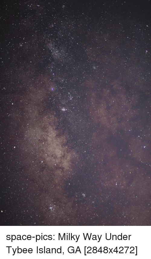 Tumblr, Blog, and Http: space-pics:  Milky Way Under Tybee Island, GA [2848x4272]