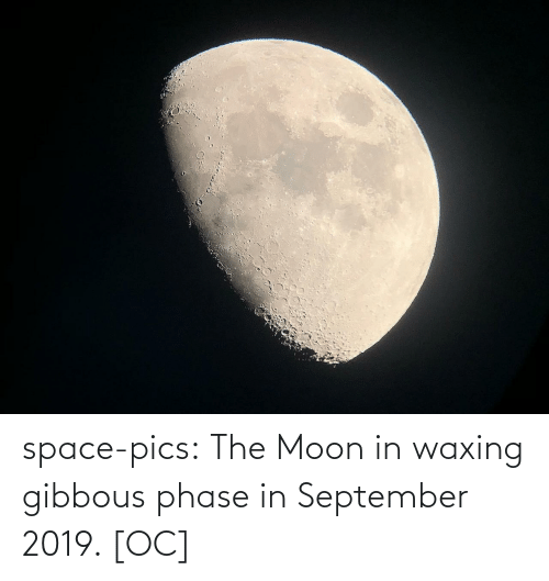 Space: space-pics:  The Moon in waxing gibbous phase in September 2019. [OC]