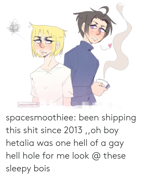Hell Of A: spacesmoothiee: been shipping this shit since 2013  ,,oh boy hetalia was one hell of a gay hell hole for me   look @ these sleepy bois