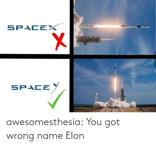 name: SPACEX  SPACE  అ awesomesthesia:  You got wrong name Elon