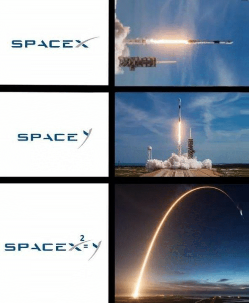 Memes, Space, and Spacex: SPACEX  SPACE  2  SPACE%=