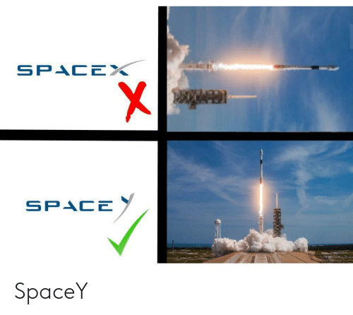Space, Spacex, and Spacey: SPACEX  SPACE SpaceY