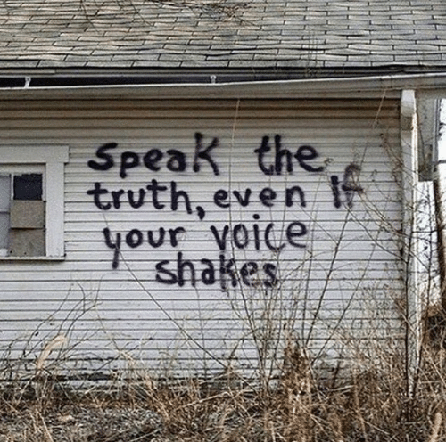 Speak, The, and Your: Speak the  uth even  your v010