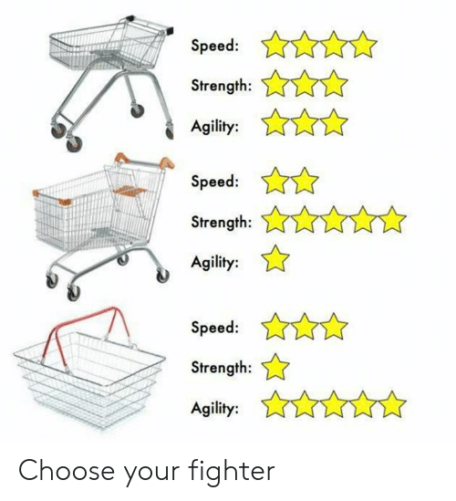 Choose Your Fighter: Speed:  Strength:n  Agility:  Speed:  Strength:  Agility:  Speed:  Strength:  Agility: Choose your fighter