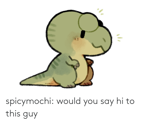 You Say: SPiCVнось: spicymochi:  would you say hi to this guy