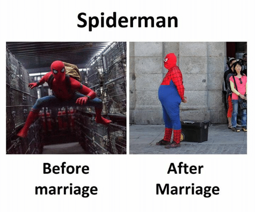 Marriage, Spiderman, and After: Spiderman  After  Marriage  Before  marriage
