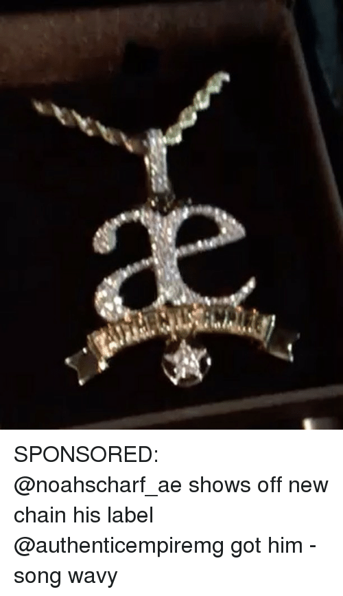 Memes, 🤖, and Got: SPONSORED: @noahscharf_ae shows off new chain his label @authenticempiremg got him - song wavy