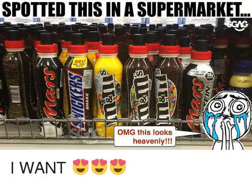 Memes, Omg, and 🤖: SPOTTED THIS IN A SUPERMARKET  NELW  G OMG this looks  heavenly!!! I WANT 😍😍😍