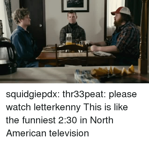 Tumblr, American, and Blog: squidgiepdx: thr33peat:  please watch letterkenny  This is like the funniest 2:30 in North American television