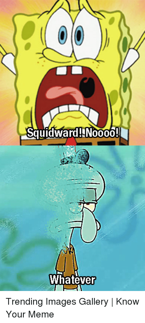 know your meme: Squidward!NN0000!  Whatever Trending Images Gallery | Know Your Meme