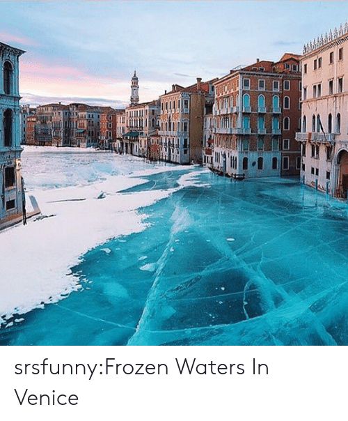 Frozen, Tumblr, and Blog: srsfunny:Frozen Waters In Venice