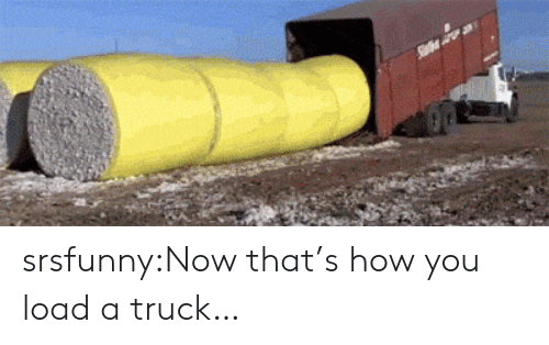 Tumblr, Blog, and How: srsfunny:Now that's how you load a truck…