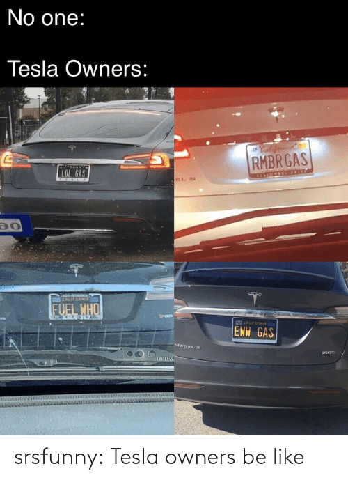 Owners: srsfunny:  Tesla owners be like