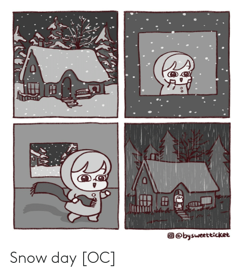 Snow: ss  O @bysweetticket Snow day [OC]