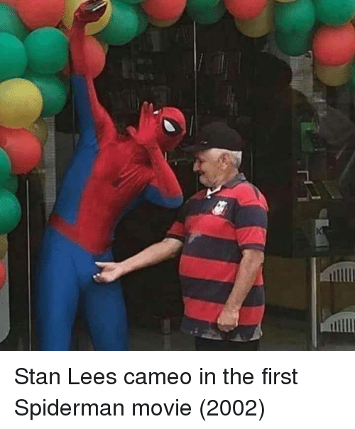Stan, Stan Lee, and Movie: Stan Lees cameo in the first Spiderman movie (2002)
