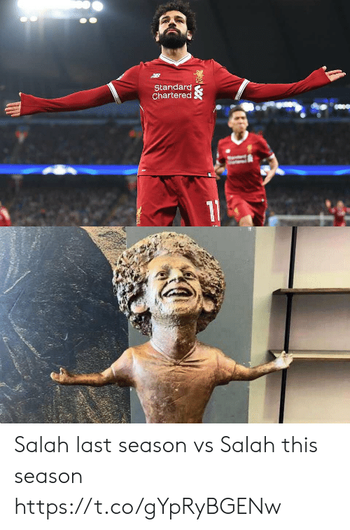 Soccer, Standard Chartered, and Salah: Standard  Chartered Salah last season vs Salah this season https://t.co/gYpRyBGENw