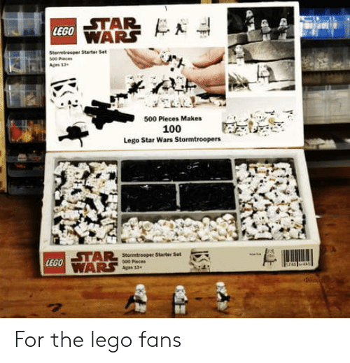 Star Lego 500 Pleces Makes 100 Lego Star Wars Stormtroopers Lego For