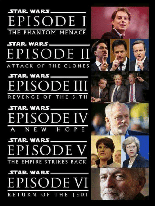 The Empire Strikes Back: STAR WARS  EPISODEI  EPISODE II  EPISODE III  EPISODE IV  EPISODE V  EPISODE VI  THE PHANTOM MENACE  STAR WARS  ATTACK OF THE CLONES  STAR WARS  REVENGE O F THE SITH  STAR WARS-  A N E W H O P E  STAR WARs  THE EMPIRE STRIKES BACK  STAR WARS  RETuRN OF THE JEDI