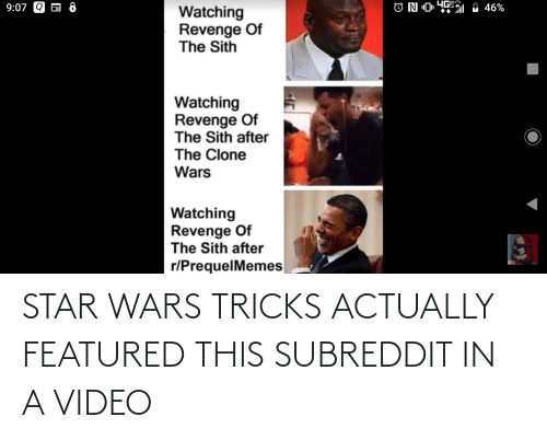 Featured: STAR WARS TRICKS ACTUALLY FEATURED THIS SUBREDDIT IN A VIDEO
