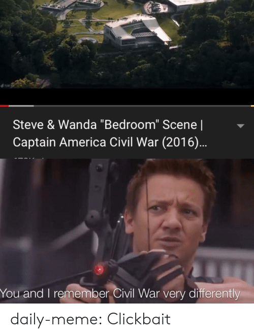 "America, Captain America: Civil War, and Meme: Steve & Wanda ""Bedroom"" Scene