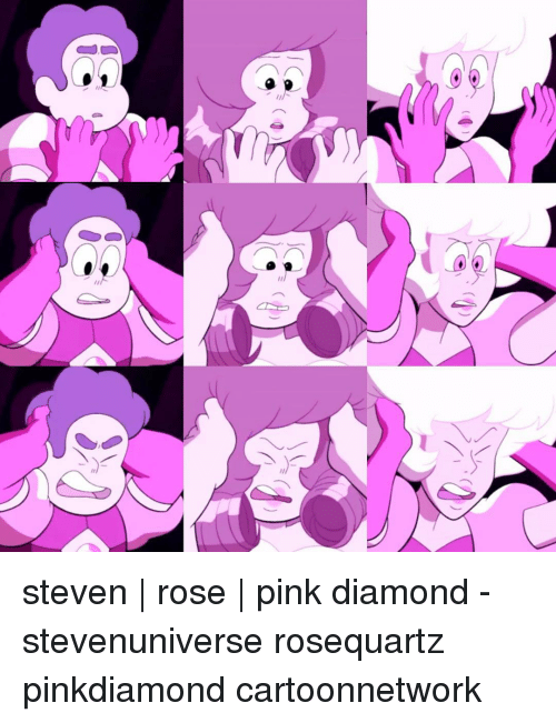 Memes, Diamond, and Pink: steven | rose | pink diamond - stevenuniverse rosequartz pinkdiamond cartoonnetwork