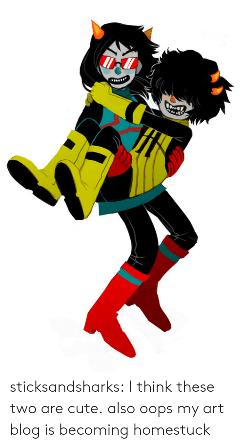 Cute, Target, and Tumblr: sticksandsharks: I think these two are cute. also oops my art blog is becoming homestuck
