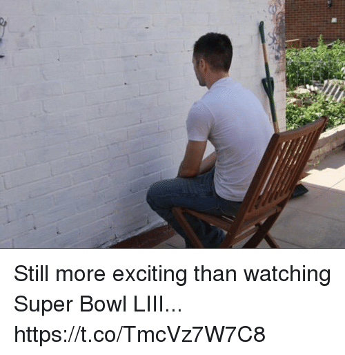 Football, Nfl, and Sports: Still more exciting than watching Super Bowl LIII... https://t.co/TmcVz7W7C8