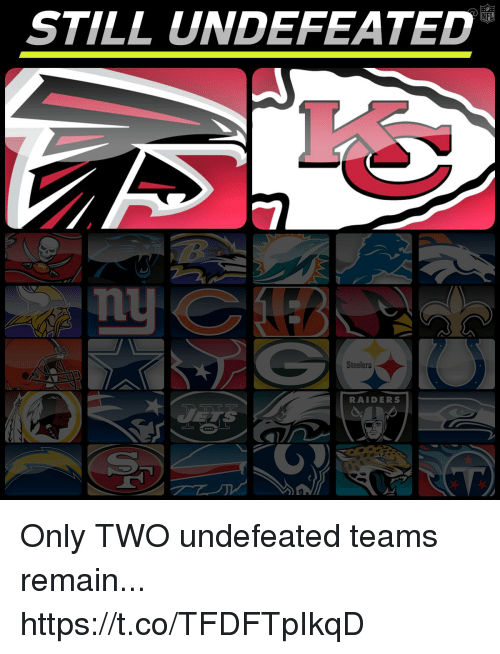 Memes, Raiders, and Steelers: STILL UNDEFEATED  Steelers  RAIDERS Only TWO undefeated teams remain... https://t.co/TFDFTpIkqD