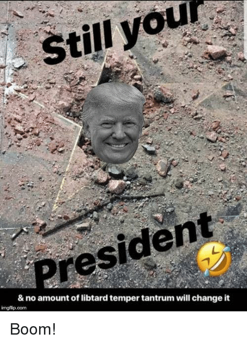 Memes, Change, and Boom: Still you  President  & no amount of libtard temper tantrum will change it  imgflip.com Boom!